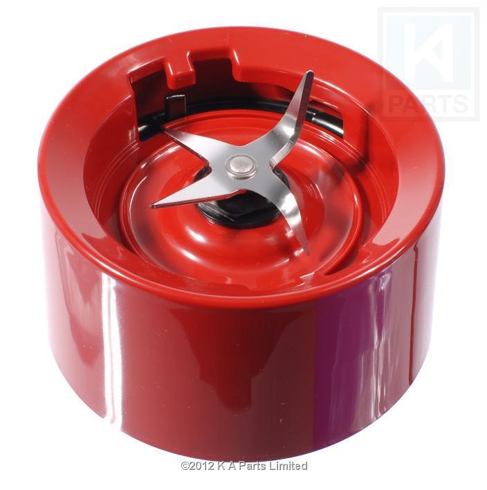 Kitchenaid blender jar base collar with blades empire red twist on version ebay - Kitchenaid blender parts uk ...