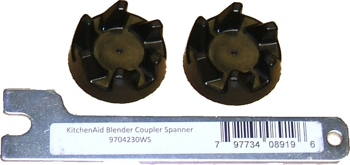 2 X Kitchenaid Blender Black Rubber Coupler Coupling