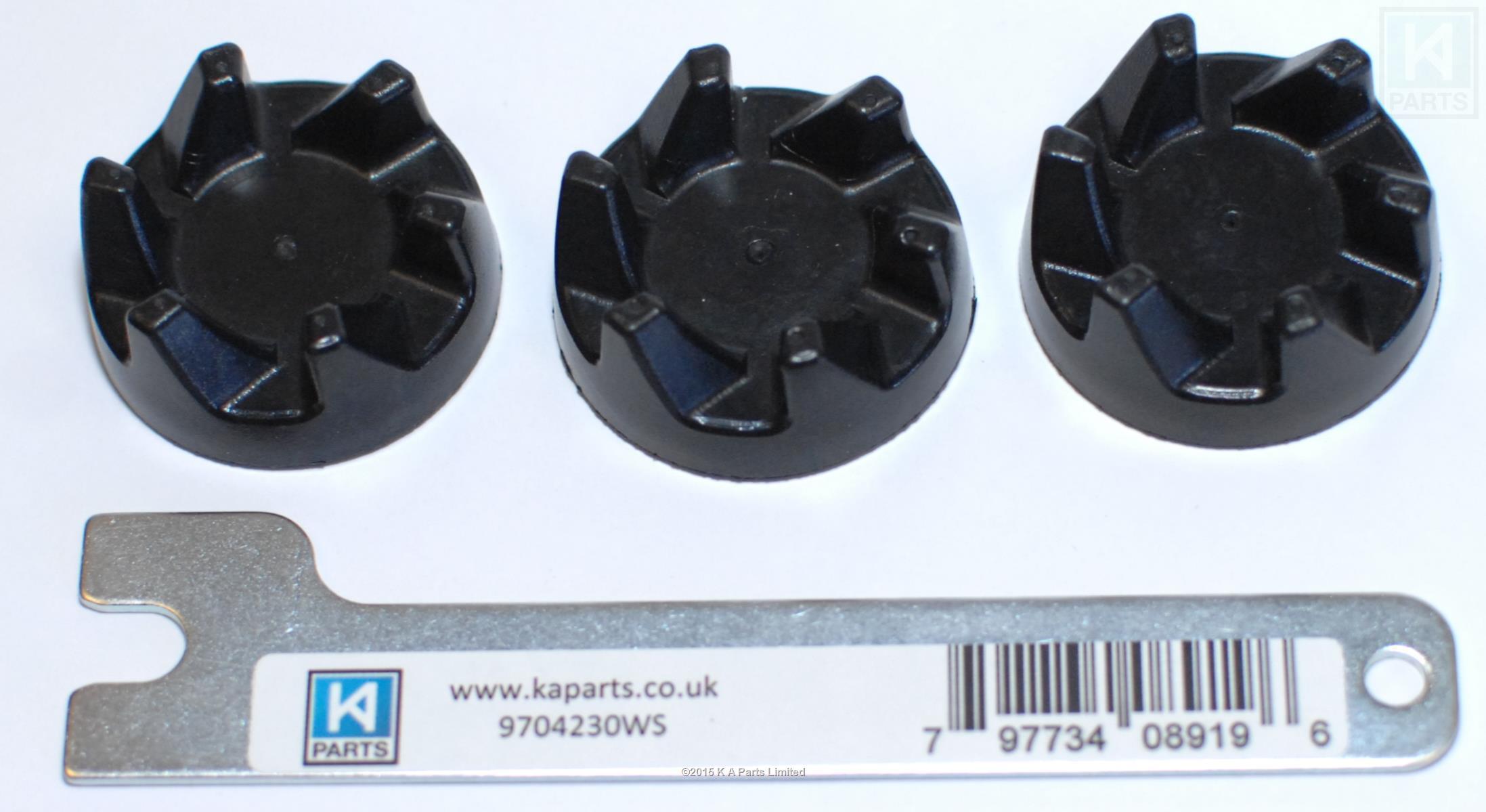 Kitchenaid 3 x rubber couplers and spanner for ksb5 and ksb52 blenders brand new ebay - Kitchenaid blender parts uk ...