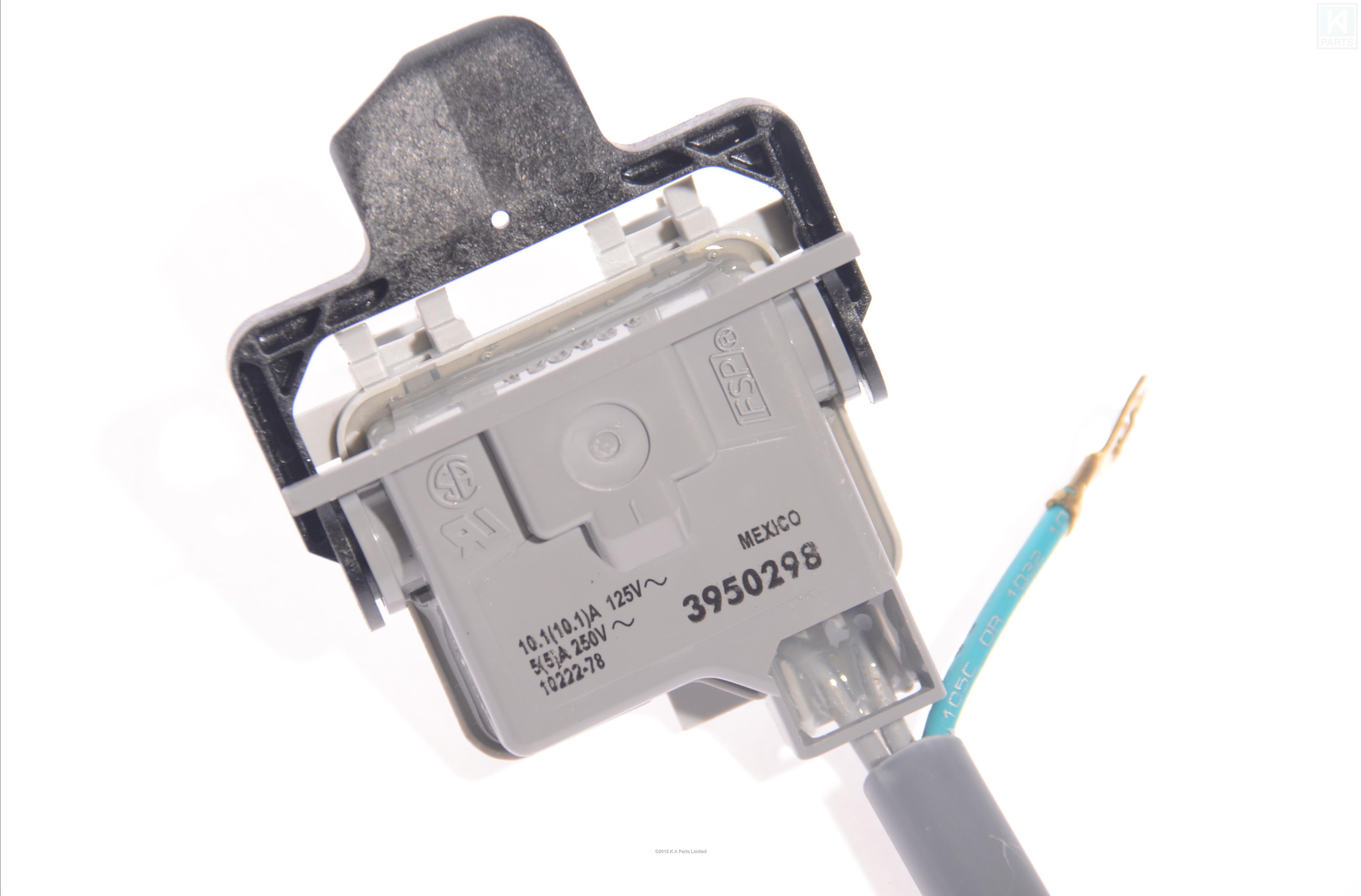 kitchenaid washing machine lid switch