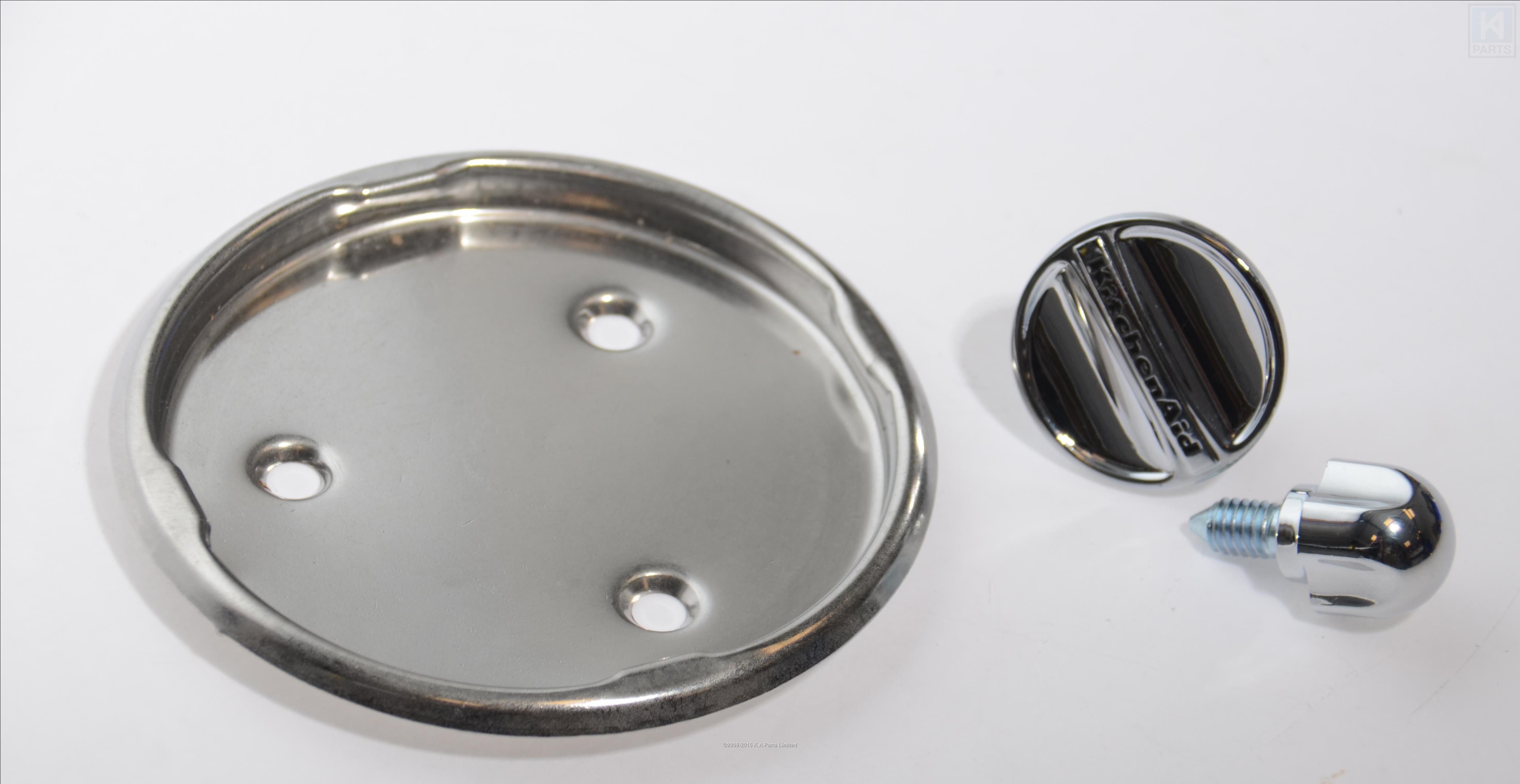 kitchenaid stand mixer chrome set artisan 4 5 qt 5 qt ebay. Black Bedroom Furniture Sets. Home Design Ideas